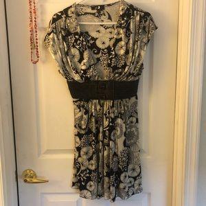 Sky black and white dress